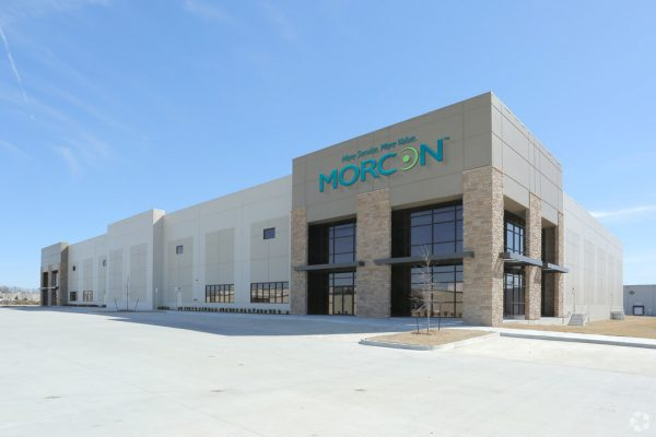 Exterior view of Morcon Industrial building in Tulsa, OK