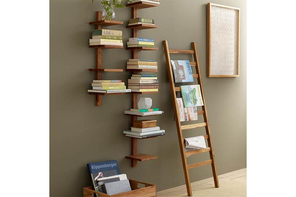 shelf and ladder